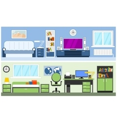 Two modern interior vector image
