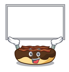 Up board maple bacon bar character cartoon vector