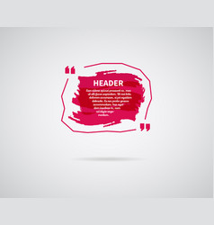 Watercolor ink splash quote blank template vector