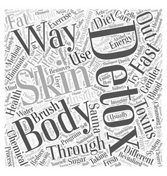 Ways to detox the body Word Cloud Concept vector
