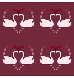 White Swan symbol of love vintage seamless pattern vector image