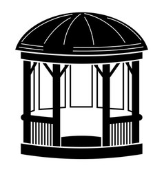 wood shelter icon simple style vector image