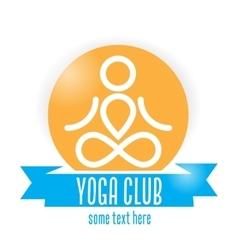 Yoga club logo vector