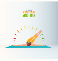 yoga poses for international day vector image