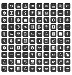 100 pointers icons set black vector