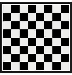 empty chess board vector image vector image