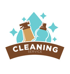 home cleaning service icon of water drop vector image