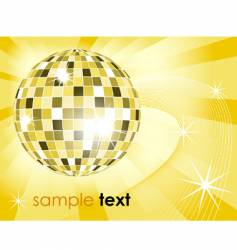 retro disco ball background vector image