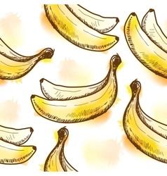 Seamless pattern with banana vector image vector image