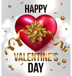 Valentines greeting card design eps 10 vector image vector image