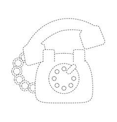 vintage telephone symbol vector image