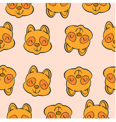 collection funny animal head doodles vector image vector image