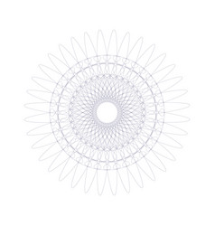 guilloche rosette or element for certificate vector image