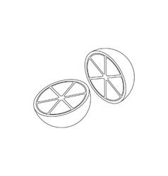 Lemon icon isometric 3d style vector image vector image