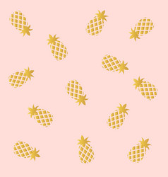 pink with pineapple background vector image vector image