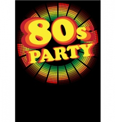 retro party background vector image vector image