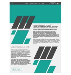 Website layout template vector