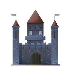 ancient grey castle isolated in flat design vector image