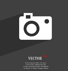 camera symbol Flat modern web design with long vector image vector image