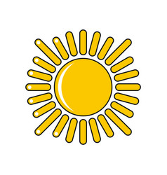 cartoon sun icon isolated on white background vector image