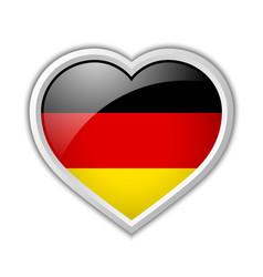 German heart icon vector image