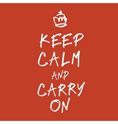 keep calm handwritings vector image vector image