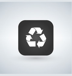 recycle reuse or reduce symbol over black app vector image