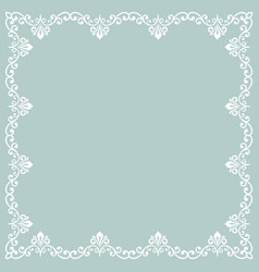 floral fine frame vector image