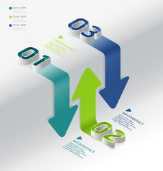 isometric modern infographic graph vector image vector image