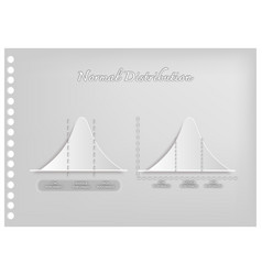paper art of standard deviation diagram graph vector image vector image