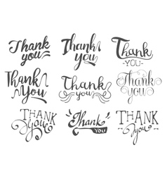 Thank You Message Set vector image