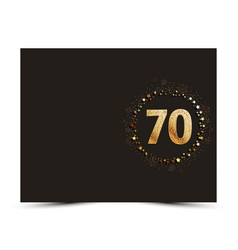 70 years anniversary card vector