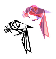 abstract geometrical style bird vector image