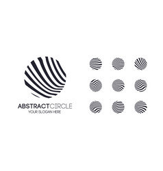 abstract linear logotype set black color vector image
