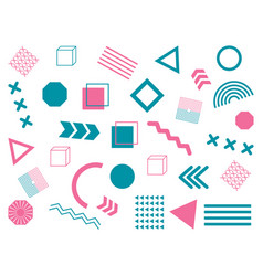 abstract memphis background geometric elements vector image
