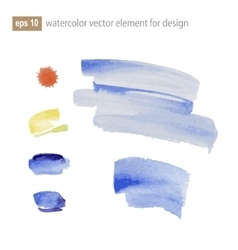 Abstract watercolor art paint on white background vector image