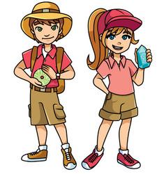 Adventure kids explorers vector