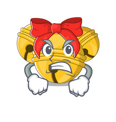 Angry jingle bell in character shape vector