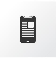 article on phone icon symbol premium quality vector image