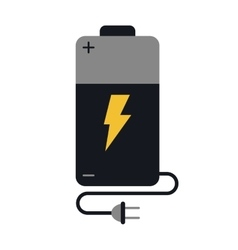 battery charge alkaline lighting cable plug vector image
