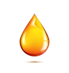 Beautiful drop of oil vector