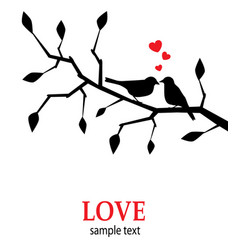 Birds in love on a branch vector