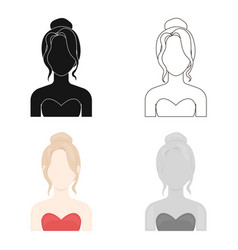 Blonde icon cartoon single avatarpeaople icon vector