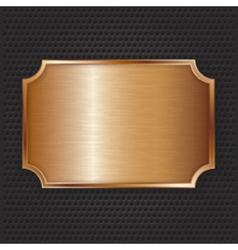 Bronze texture plate vector image