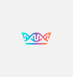 bstract crown dna logo icon design modern minimal vector image