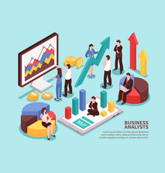 business analyst concept vector image