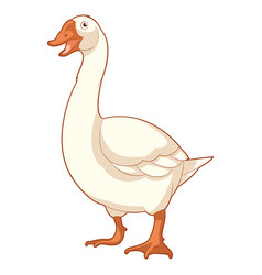 cartoon smiling goose vector image