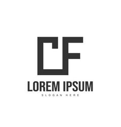 Cf letter logo design initial letter logo template vector