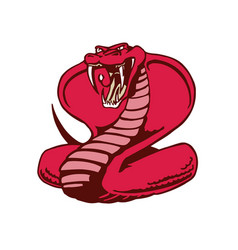 cobra snake mascot animal cartoon character vector image