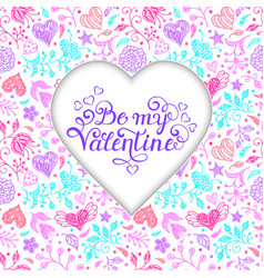 Colorful valentines card vector
